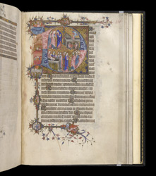 Historiated Initial To The Office Of The Dead With Scenes From The Life Of Christ, In The Egerton Bohun Psalter-Hours f.142r